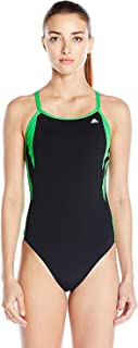 20afd9ef07f9e adidas Women's Event Vortex-Back Active Sporty One Piece Swimsuit