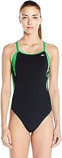 09c82f55 adidas Women's Event Vortex-Back Active Sporty One Piece Swimsuit