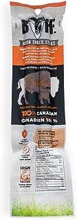 BUFF Bison Meat Sticks, Canadian-Raised, Grass-Fed Protein Snack, 2 Sticks Per Pack, 50 Gram