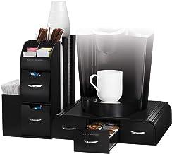 Mind Reader CMB02-BLK Combine 2 Piece Coffee Station, 20 x 14 x 12, Black