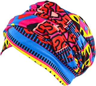 Women Turban Hat Head Wrap - Multi Colour Black African Jersey Magic Headband Turbans Headwrap Tube Scarf Tie Hijab For Hair Muslim Bohemian Boho Chemo Cap