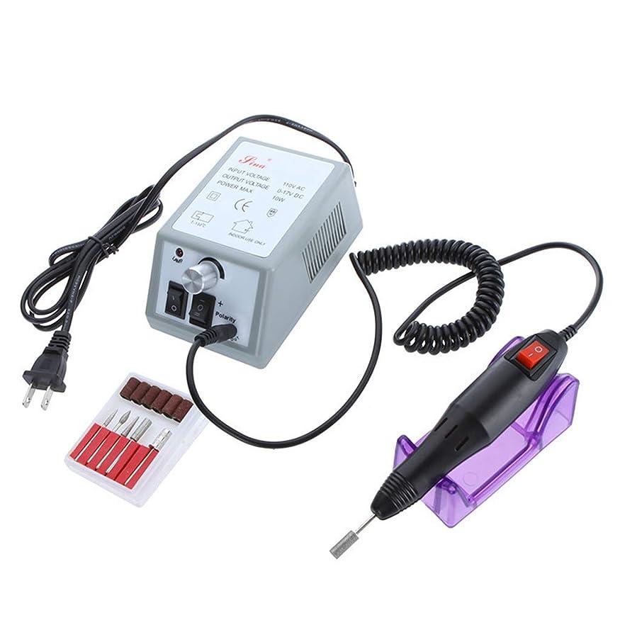 アパートファイルプランター電気ネイルドリルファイルマシンマニキュアペディキュアキット、20000ターンジェルネイルキュア