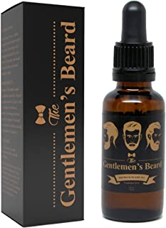 The Gentlemen's Premium Beard Oil - Conditioner Softener - All Natural Fragrance Free - Softens, Strengthens and Promotes Beard & Mustache Growth - Leave in Conditioner Moisturizes Skin
