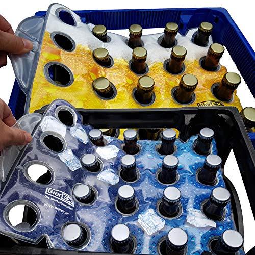 Premium Flaschenkühler für 20 x 0,5 Liter oder 20 x 0,33 Liter in Fußball Optik Bierkistenkühler Bierkastenkühler für Bierkiste Bierkästen (20'er Kiste, Fußball)