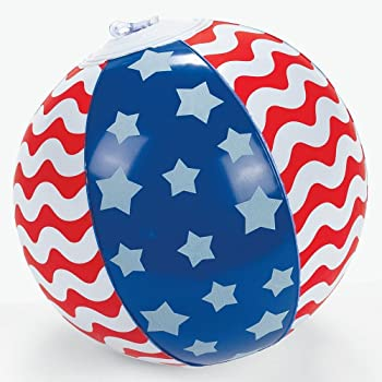 Prize SG/_B00L9MRLMS/_US Party Favor// 4th of July //Decor 6 Inflatable Patriotic Beach Balls 12 RIN Set of Six