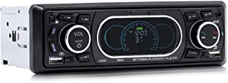 Festnight SWM 8809 Bluetooth Vehicle Car MP3 Player Stereo Audio Player with FM Radio AUX TF Card U Disk Play Built-in Mic...