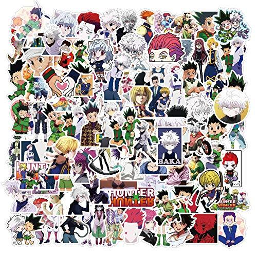 XIAMU Anime Hunter × Hunter Graffiti Pegatinas Motocicletas Muebles Juguetes para niños Equipaje monopatines calcomanías 100 unids/Pack