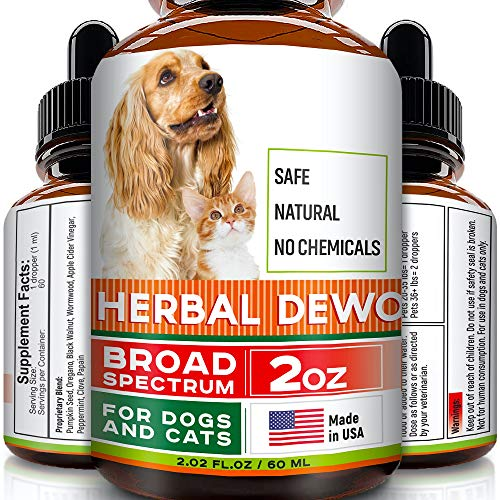FurFinds Herbal Cleanse fot Cats and Dogs - Homeopathics Parasites and Toxins for Dogs and Cats - All Breeds and Size - Puppy & Kitten - 2oz