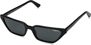 VOGUE Women's VO5235S Cat Eye Sunglasses, Black/Grey, 53 mm