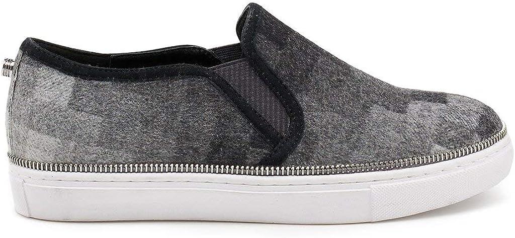 Harper Slip on Sneaker in Grey Graphic
