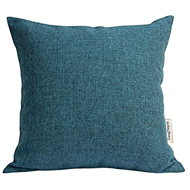 TangDepot Heavy Lined Linen Cushion Cover, Throw Pillow Cover, Square Decorative Pillow Covers, Indoor/Outdoor Pillows Shells - (20 x20 , Sea Blue)