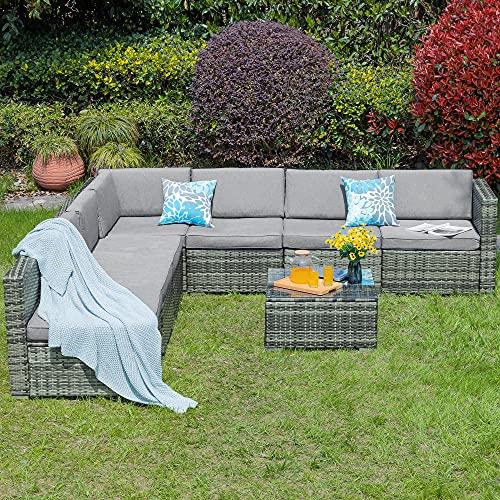 YITAHOME 8 Piece Outdoor Sofa Set