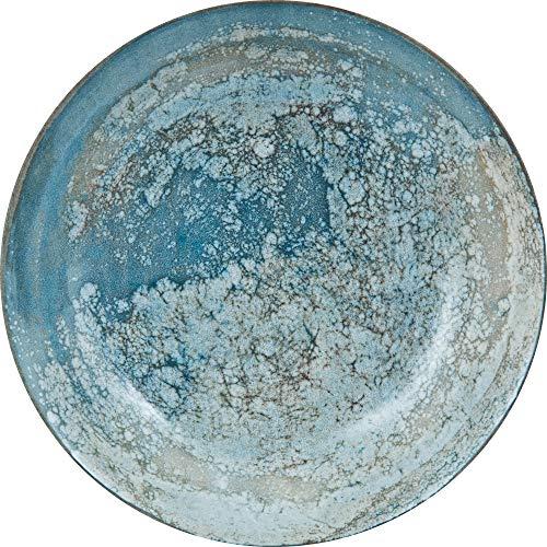 Güral 12-teiliges Set Pastateller, Suppenteller Digibone Porzellan blau | Ø 20 cm tief