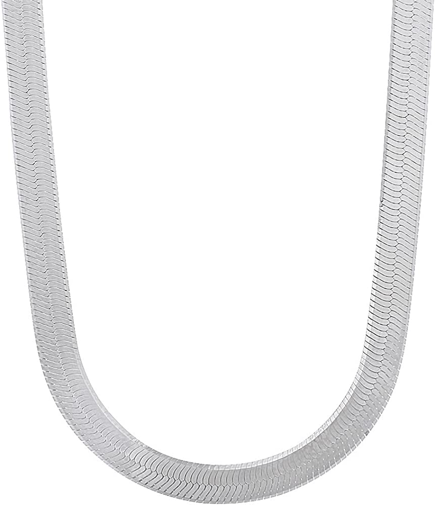 4.5mm Solid .925 当店は最高な サービスを提供します 人気急上昇 Sterling Silver Flat Necklace Chain Herringbone