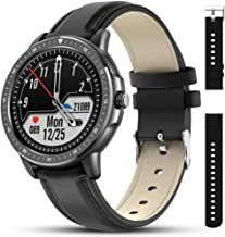 AMATAGE Smart Watch for Men Android Phones iPhone, Fitness Tracker Watch with Heart Rate and Blood Pressure Monitor, Waterproof Activity Fitness Tracker with 23 Sport Modes, 1 Extra Band(Black)