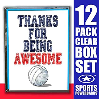 Play Strong Volleyball Thanks for Being Awesome Note Cards (4.25
