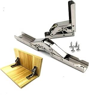 2pcs Stainless Steel 90 Degree Folding Shelf Hinge Bracket Hidden Table Holder Hinge Furniture Accessories Folding Shelves