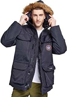 Helzkor Men's Waterproof Ski, Wind and Snow Jacket with Snow Skirt and Detachable Hood