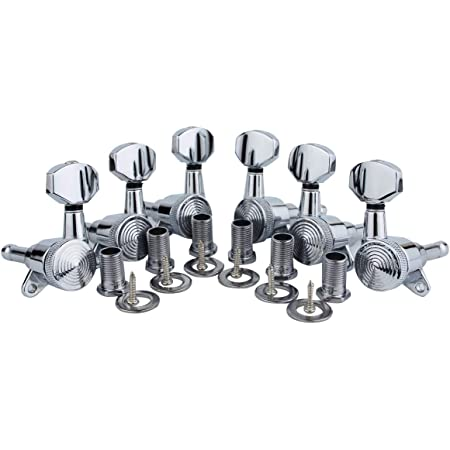 Guyker 6pcs Guitar Machine Heads 3l 3r 1 19 Locking Tuning Key Pegs Tuners Replacement For Electric Or Acoustic Guitars Chrome Amazon Co Uk Musical Instruments