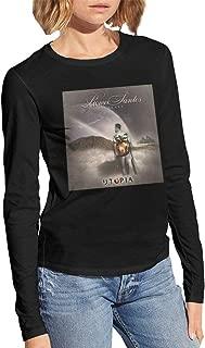 Utopia Romeo Santos Womens Long Sleeve Casual T Shirt Blouse Tops Black