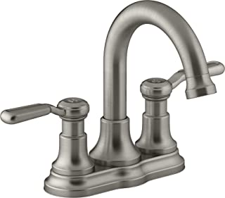 KOHLER Worth 4 in. Centerset 2-Handle Bathroom Faucet in Vibrant Brushed Nickel