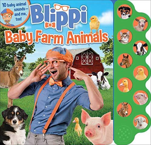 Blippi: Baby Farm Animals (10-Button Sound Books)