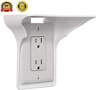 Power Perch Outlet Shelf -Easy Installation, Wall Outlet Shelf , No Additional (white)
