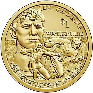 2018 P Position B BU Jim Thorpe Sacagawea Native American Dollar Choice Uncirculated US Mint