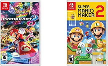 Mario Kart 8 Deluxe - Nintendo Switch Bundle with Super Mario Maker 2 - Nintendo Switch