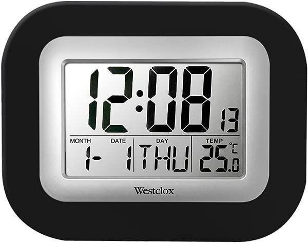 Westclox 9 In Digital Wall Clock Gray