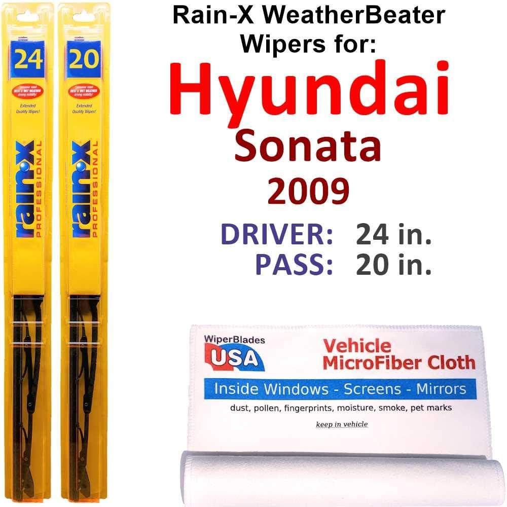 Rain-X WeatherBeater Ranking TOP17 Wiper Dealing full price reduction Blades for Set Sonata 2009 Hyundai Ra