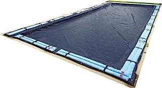 Blue Wave BWC752 Bronze 8-Year 20-ft x 40-ft Rectangular In Ground Pool Winter Cover,Dark Navy Blue