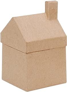 Darice Paper Mache House Box - 3-1/2 x 6-1/4 x 3-5/8 in