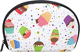 Color Wave Point Cake Women's small cosmetic case for Cosmetic purse and Toiletries Organizer Bag Pack cosmetic travel bag