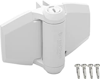 D&D Technologies TruClose TCA3L2S3WTS Regular Duty Gate Hinge, Self Closes Gates Up to 66 lb, Tension Adjustable, for Square Post Vinyl or Wood Gates, (White)
