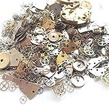 YIYATOO 50g Lot Vintage Steampunk Wrist Watch Old Parts Gears Wheels Steam Punk for Crafting