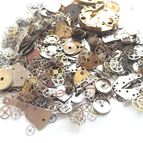 YIYATOO 50g Lot Vintage Steampunk Wrist Watch Old Parts Gears Wheels Steam Punk for Crafting