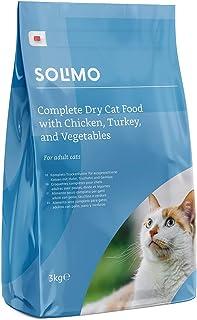 comprar comparacion Marca Amazon - Solimo - Alimento seco completo para gatos adultos con pollo, pavo y verduras, 1 Pack de 3 kg