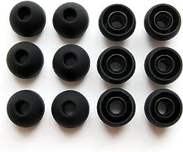 12 Medium Eartips Earbuds for Monster Beats Dr. Dre Tour, urBeats and Powerbeats (Black)