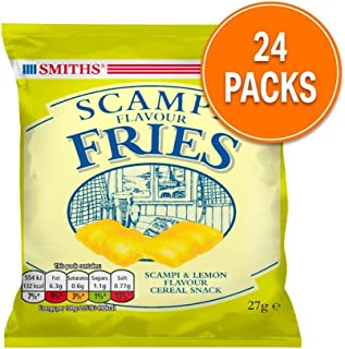 Smiths Scampi Fries - The UK's favourite Fishy Snack - 24 Tasty Bags
