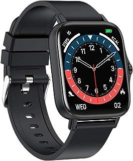 スマートウォッチ 2021最新版 1.7インチ 大画面 Bluetooth通話 着信通知 腕時計 活動量計 多種類運動モード 音楽再生 ストップウォッチ INS/Twitter/Line/メッセージ通知 IP67防塵防水 長い待機時間 日本語ア...