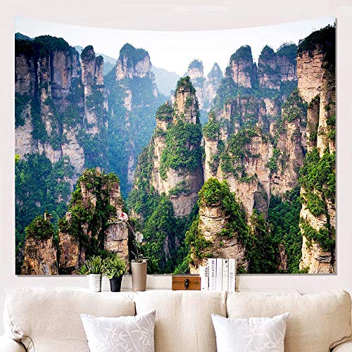 GHKNB Tapices Mountain Cliff Series Fondo Colgar Tapiz Pared Decoración Hogar