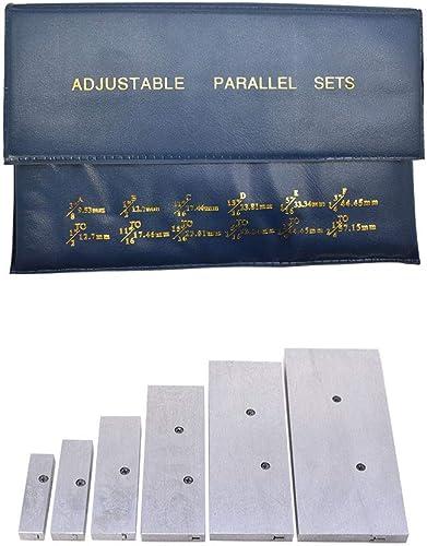 "2021 6 Pcs new arrival Adjustable Parallel Set 3/8"" - 2-1/4"" Hardened Steel Precision Parallel Set for Layout Inspection wholesale Stop Work Set-Up Etc outlet online sale"