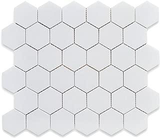 White 12X12 Hexagon Mosaic- 11pcs/carton (11 sq ft)