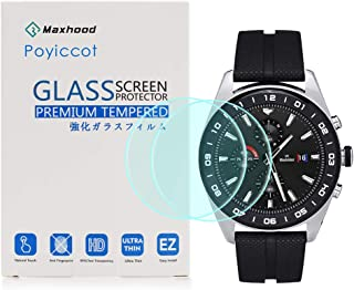 for LG Watch W7 Tempered Glass Screen Protector, Poyiccot 2Pack 9H Premium Hardness Tempered Glass Screen Protector 2.5 D ...