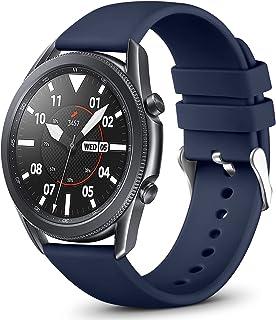 Vobafe 22mm Bandje Compatibel met Garmin Vivoactive 4/Samsung Galaxy Watch 46mm Bandje, Zachte Siliconen Bandje voor Samsu...