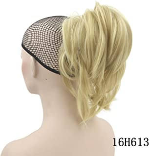 10 Colors Wavy Hairpieces Claw Ponytail Synthetic Hair Blonde Gray Little Pony Tail Clip In Hair Extension #24 12inches