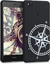 kwmobile TPU Silicone Case Compatible with Huawei P9 Lite - Soft Flexible Shock Absorbent Protective Phone Cover - Navigat...