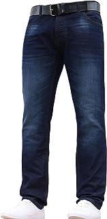 Crosshatch JEANBASE New Mens Designer Slim FIT Jeans Pants Trousers All Waist Leg Sizes