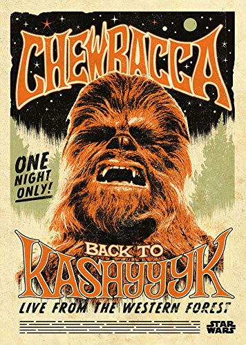 S-ANT Star Wars Chewbacca Concept Poster 20' x 28' Star Wars Art Print Chic Office Art Canve Art Living Room Bedroom Art, Canvas Rolls